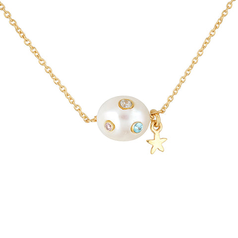 Disco Pearl Necklace