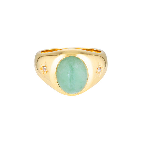 Cocktail Hour Signet Ring - Amazonite