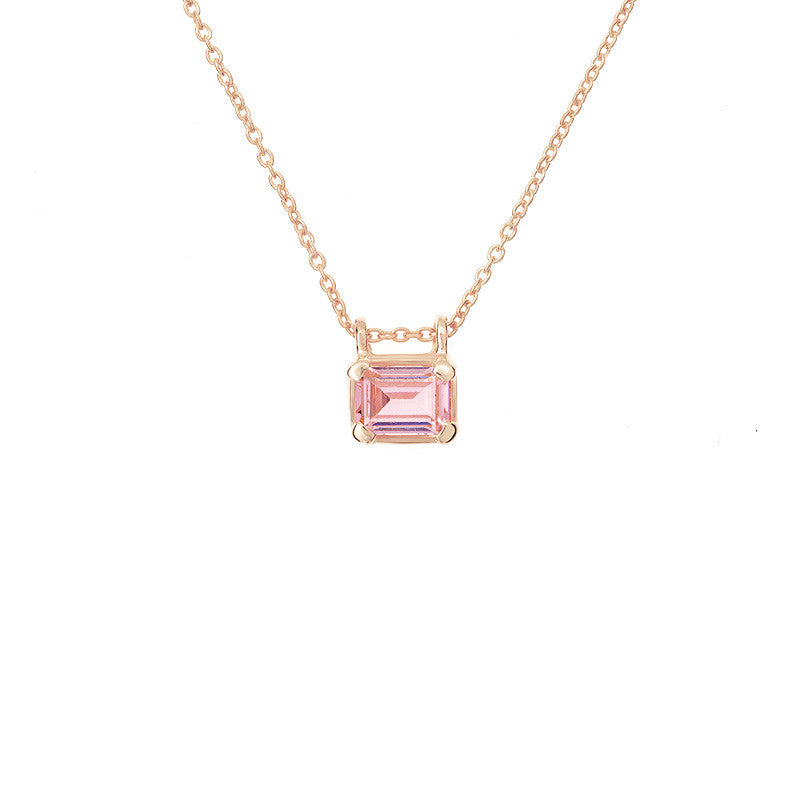 Candy Necklace - Pink Topaz