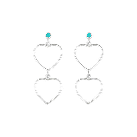 Heartbreaker Earrings - Silver