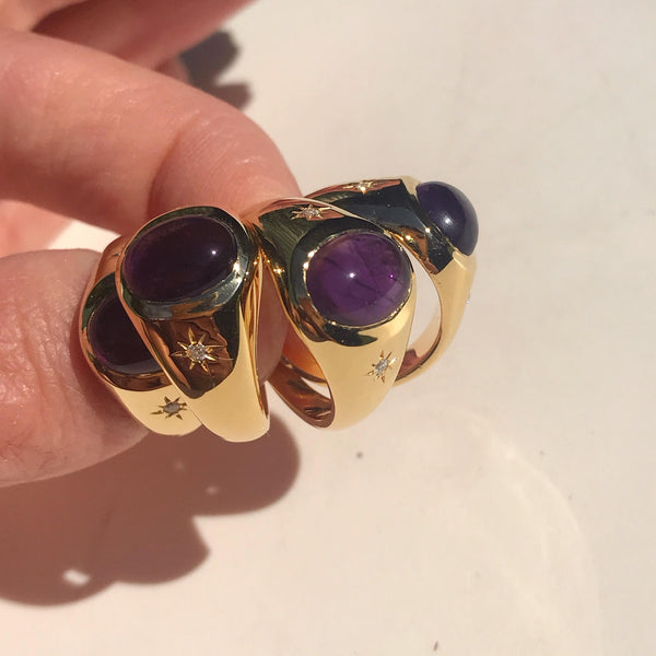 Cocktail Hour Signet Ring - Amethyst