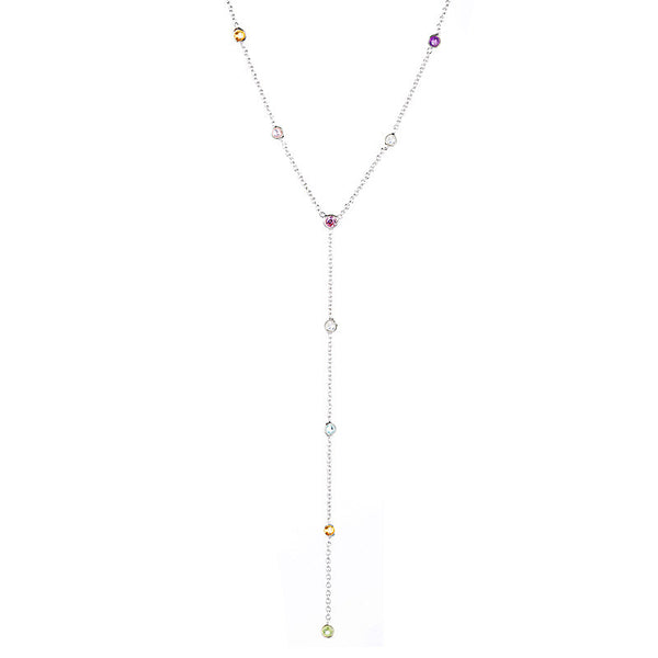 Festival Lariat Necklace - Silver