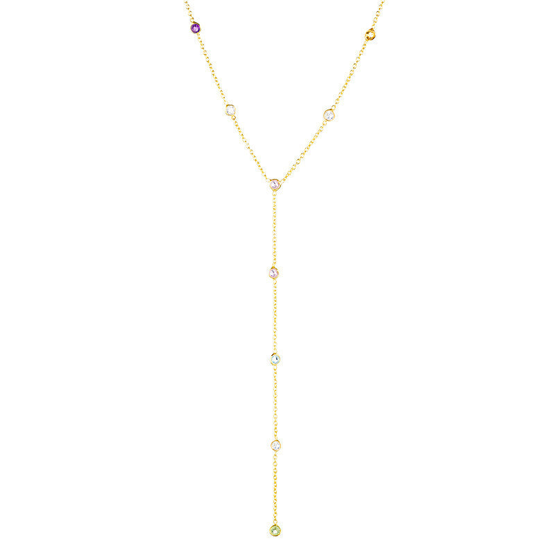 Festival Lariat Necklace - Gold