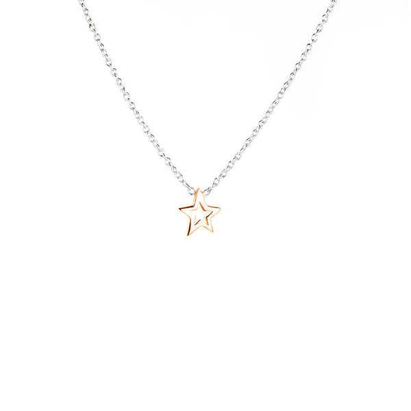 Stargazer Necklace - Silver/Rose Gold