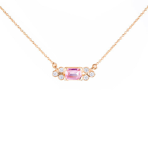 Madison Choker - Pink Topaz