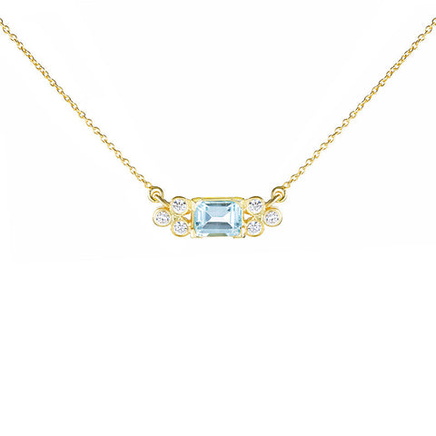 Madison Choker - Blue Topaz