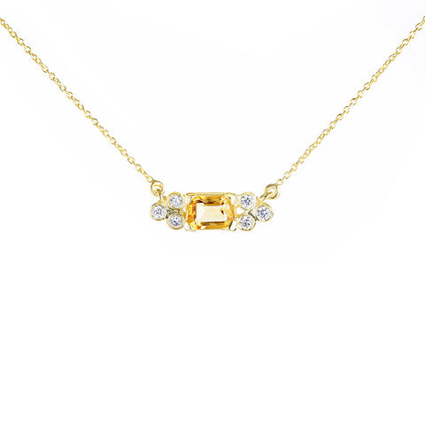 Madison Choker - Citrine
