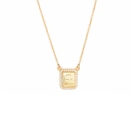 You, Me & The Sea Necklace - Gold