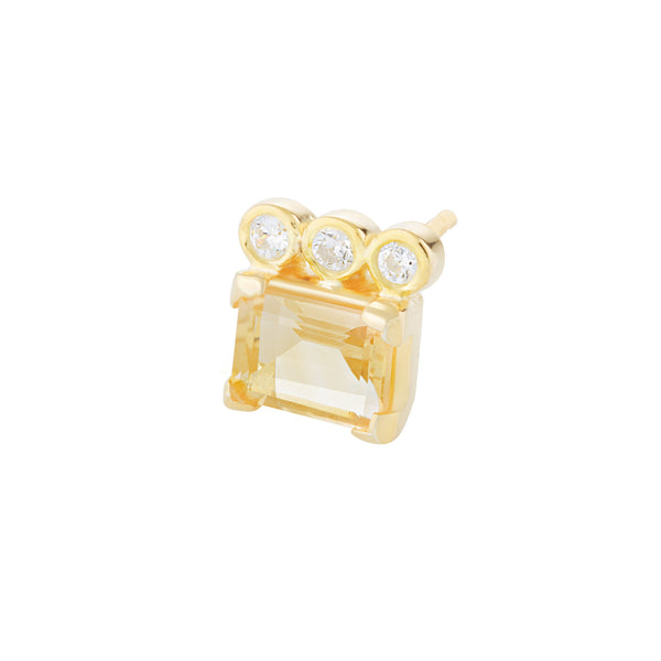 Candy Stud - Citrine
