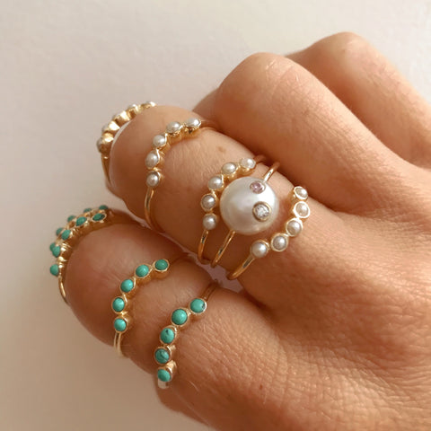 Halo Ring - Pearl
