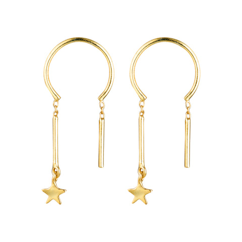 Baby Star Chime Earrings - Gold