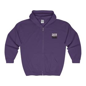 Zip Hooded Sweatshirt (Blue or Purple)