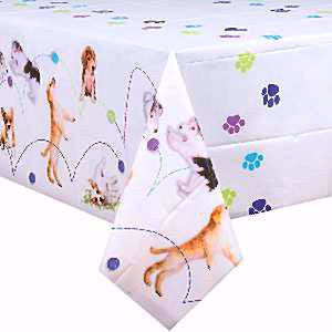 Birthday Party Pups Tablecover