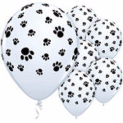 Birthday Balloons - Paw Prints