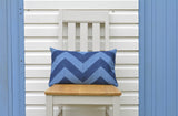 Chevron Denim Patchwork Pillow Cover
