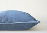 Always Fashionable Dark Blue Denim Pillow Cover