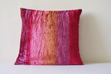 Crushed Velvet, Shaded Pink Cushion Cover