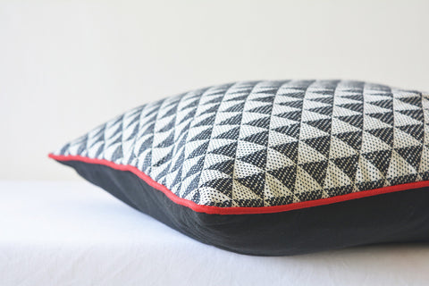 Black & White Triangles Cushion Cover
