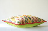 Bright Multi Colour Woven Ikat Pillow Cover