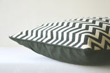 Black and White Woven Chevron Pillow Cover