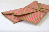Pink Brocade Gift Envelopes, Set of 2