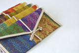 Vintage Kantha Silk Gift Envelopes, Set of 5