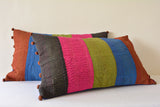 Set of 2 Multi Colour Vintage Cotton Kantha Cushion Cover