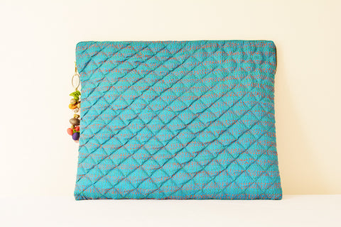 Blue Vintage Kantha Silk Laptop Sleeve