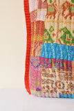 Multi-colour Kantha Tote Red