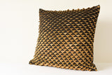 Stunning Fish Scale Pillow Cover in Black and Gold