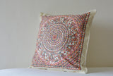 Hand Painted Madhubani Cushion Cover