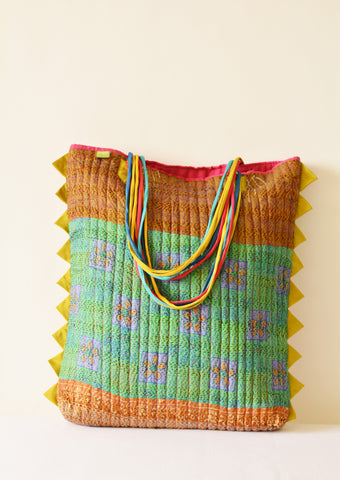 Multi Colour Vintage Kantha Tote