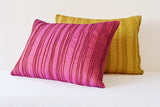 Pink Textured Cushion Cover with Dori Pleats