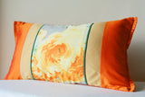 Floral Orange Patchwork Cushion Cover
