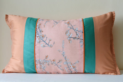 Floral Vintage Pink Patchwork Cushion Cover