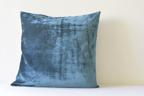 Deep Blue Velvet Pillow