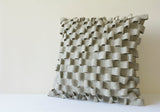 3-D Light Grey Felt Cushion Cover