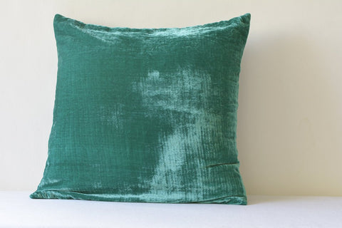 Teal Velvet Pillow , Teal Velvet Cushion Cover , Teal Decor Pillow , Green Velvet Throw Pillow , Housewares , Teal Velvet Cushion