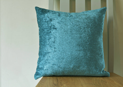 Reversible Velvet Pillow Cover in Blue and Teal , Rich Velvet Cushion covers in Shades of Blue and Teal , Luxury Blue Velvet Cushion Covers