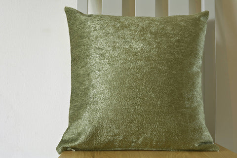 Reversible Velvet Pillow Cover in Olive Green & Ivory, Rich Velvet Cushion covers in Olive and Ivory, Luxury Olive Green and Ivory Cushion