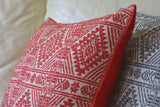 Grey Woven Peace Silk Pillow Cover