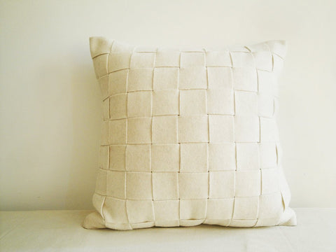 Natural White Felt Cushion Cover