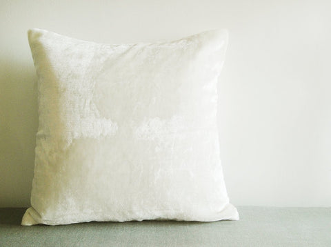 Off White Velvet Pillow Cover , Ivory White Velvet Cushion Cover , Decor Pillow , Throw Pillow , White Decorative Pillow , Housewares