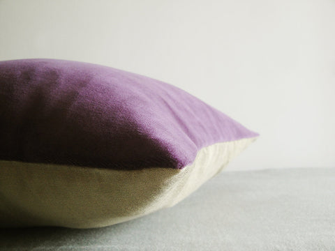 Purple Velvet Cushion Covers, Set of 2