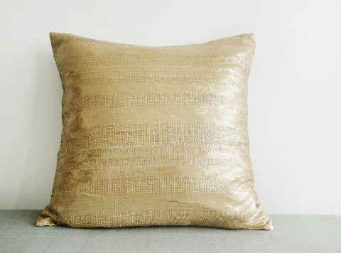 Sequin Pillow Cover in Gold