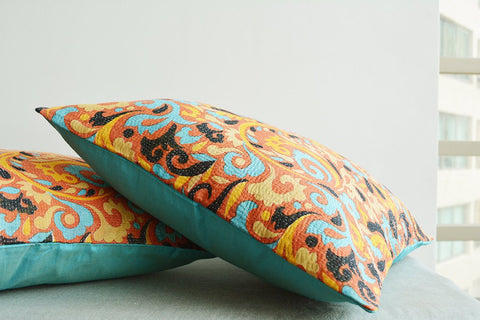 4 layer Cotton Kantha Cushion Covers