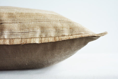 Natural Khadi Silk Pillow Cover