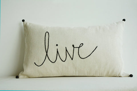 Live Linen Pillow Cover Hand Embroidery On Ecru Cotton Linen Stunning Pillow Cover Hand Embroidery Designs