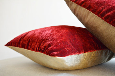 Rich Burgundy Velvet Pillow