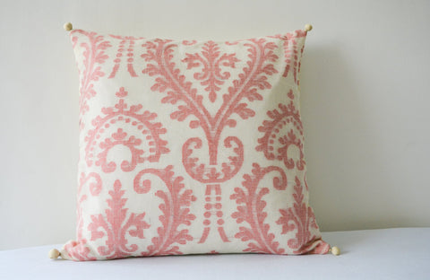Red & White Pattern Jacquard Pillow Cover , Red Summer Pillow , Red and White Cushion , Red and White Pillow , Housewares , Decor Pillow